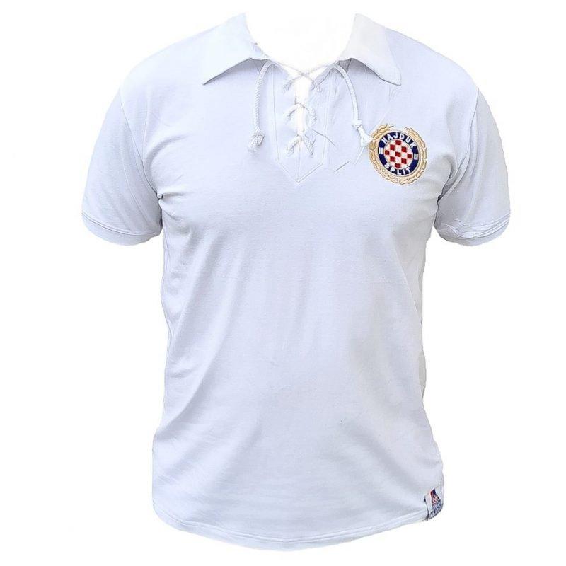 Hajduk majica retro bijela nalik starom dresu