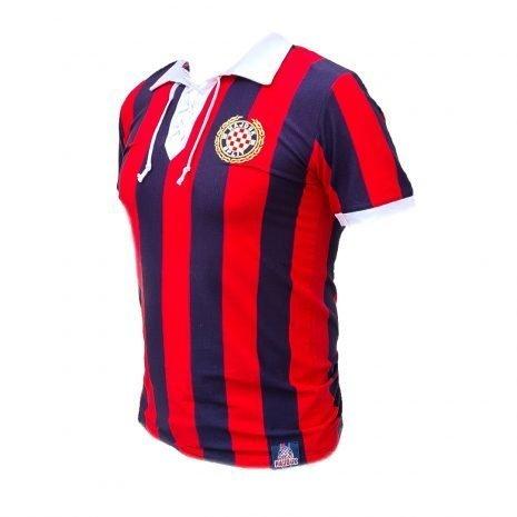 Hajduk majica retro crveno plava