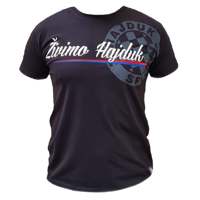 Hajduk majica crna s natpisom Živimo Hajduk