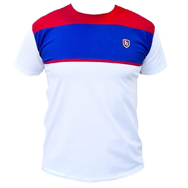 Hajduk majica bijela sa crveno plavim na prsima