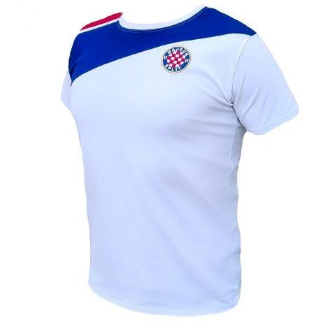Hajduk majica bijela sa crveno plavim detaljem na ramenu