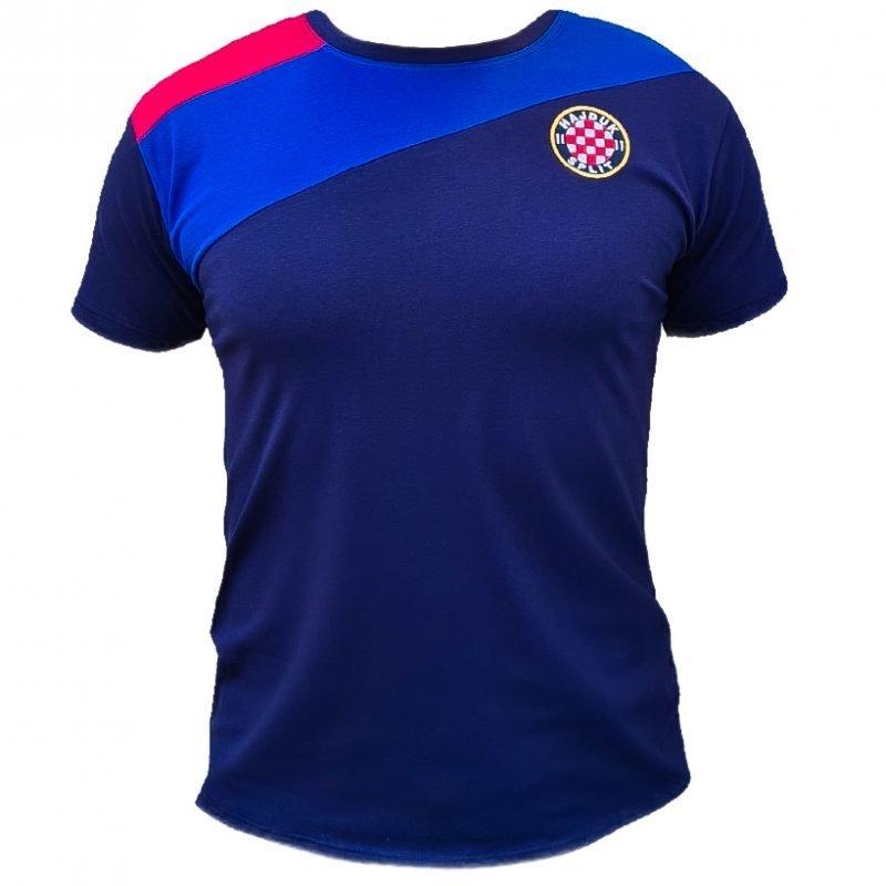 Hajduk majica modra sa crveno plavim detaljem na ramenu