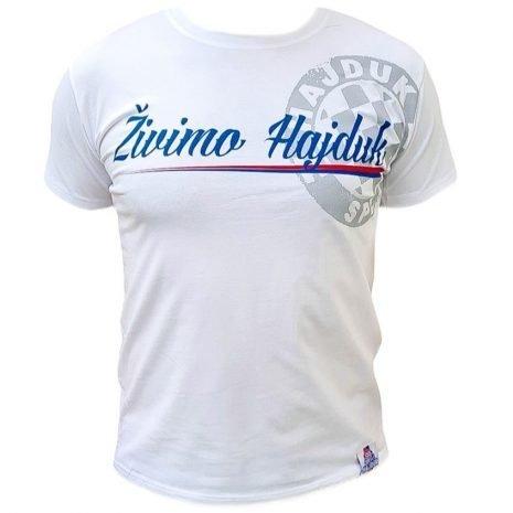 Hajduk majica bijela s natpisom Živimo Hajduk