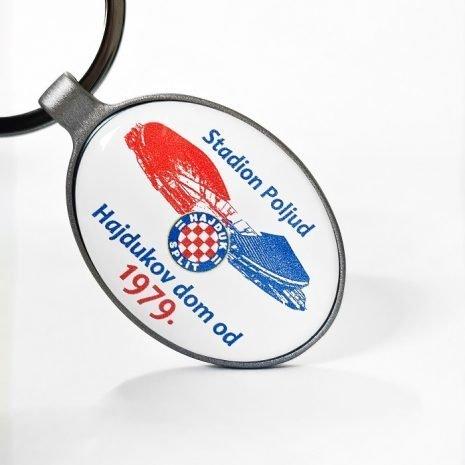 Hajduk privjesak metalni ovalni Stadion Poljud Hajdukov dom od 1979.
