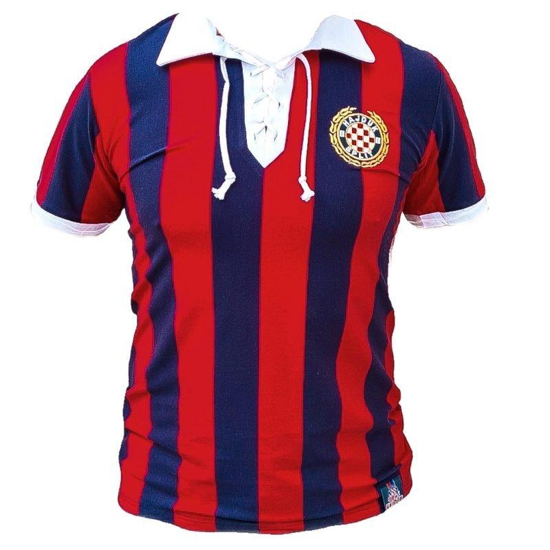 Hajduk retro majica crveno plava nalik starom dresu