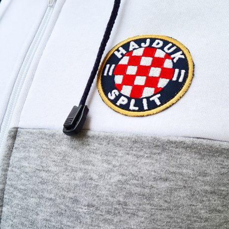 Hajduk jakna pamučna siva odrasla na zip
