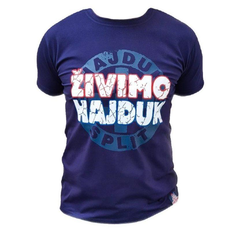 Hajduk majica modra s natpisom Živimo Hajduk i grbom Hajduka