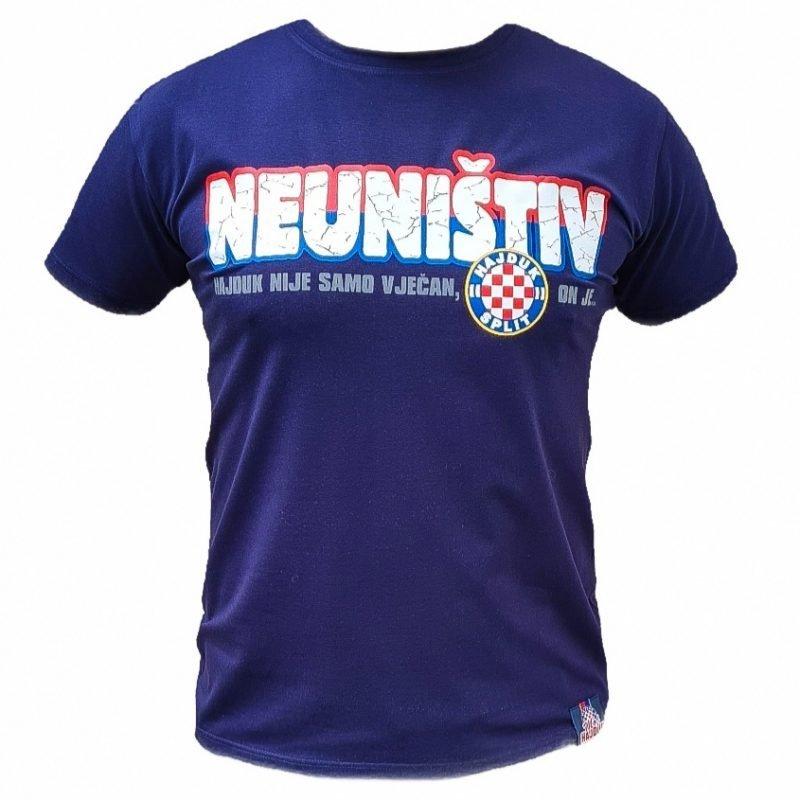 Hajduk majica modra s natpisom Hajduk nije samo vječan, on je Neuništiv