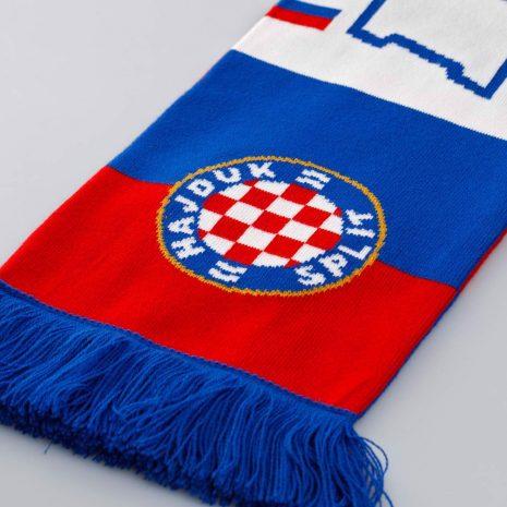 Hajduk šal crveno plavi sa plavim resicama