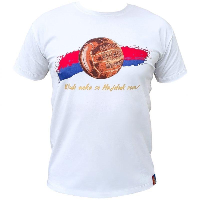 Hajduk majica bijela s natpisom Klub neka se Hajduk zove! 110 godina